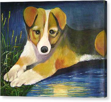 Moonlake Canvas Print by Lian Zhen
