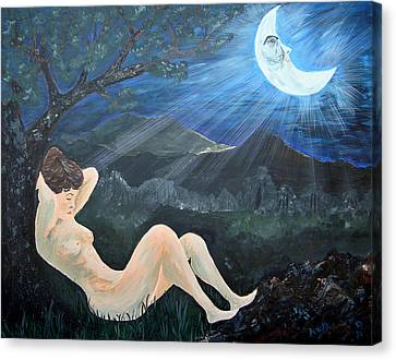 Shed Canvas Print - Moonlight And Sorrow by Donna Blackhall