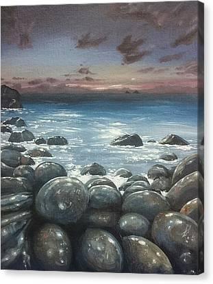 Canvas Print - Moonlight At Cot Valley, Cornwall, U.k by Keran Sunaski Gilmore