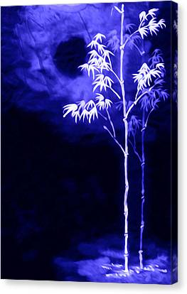 Moonlight Bamboo Canvas Print by Lanjee Chee