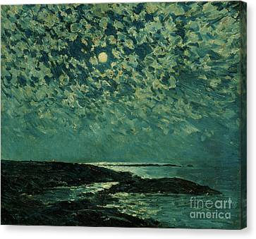 Childe Canvas Print - Moonlight by Childe Hassam