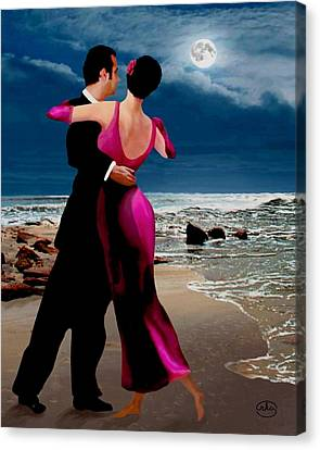 Moonlight Dance V2 Canvas Print by Ron Chambers