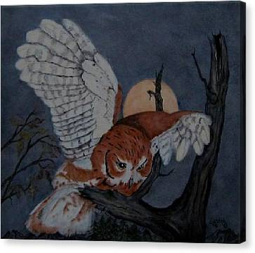 Moonlight Flight Canvas Print by Sandra Maddox