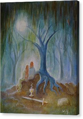 Moonlight Hallows Canvas Print