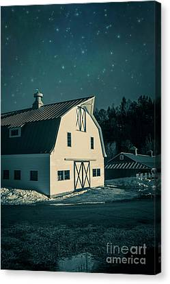 Canvas Print featuring the photograph Moonlight In Vermont by Edward Fielding