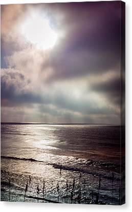 Sea Moon Full Moon Canvas Print - Moonlight Lullaby by Karen Wiles