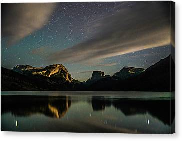 Moonlight On Green River Lake Canvas Print