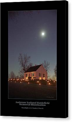Moonlight Over Dunker Church 96 Canvas Print by Judi Quelland