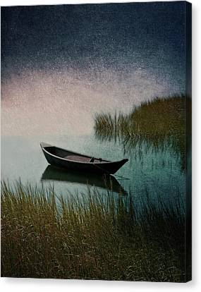 Moonlight Paddle Canvas Print by Brooke T Ryan