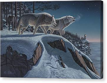 Prowler Canvas Print - Moonlight Prowlers by Kim Norlien