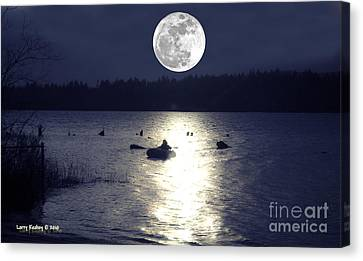 Moonlight Row Canvas Print by Larry Keahey