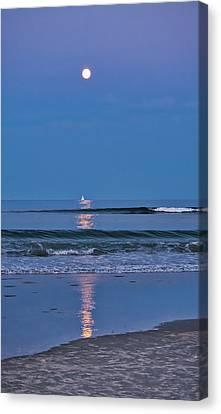 Canvas Print - Moonlight Sail 3 - Ogunquit Beach - Maine by Steven Ralser