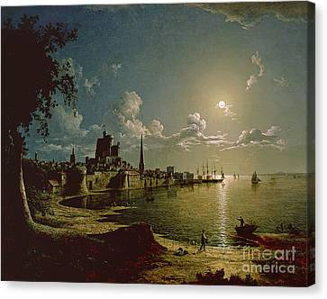 Moonlight Scene Canvas Print