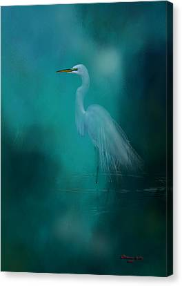 Canvas Print featuring the photograph Moonlight Serenade by Marvin Spates