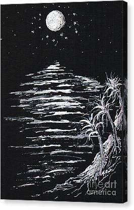 Moonlight Shadow Canvas Print by Teresa White