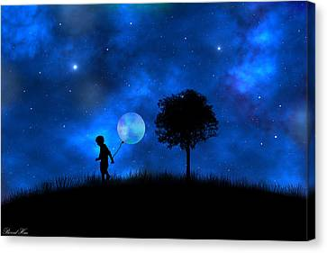 Canvas Print featuring the digital art Moonlight Shadow by Bernd Hau