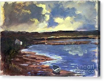 Moonlit Beach Canvas Print