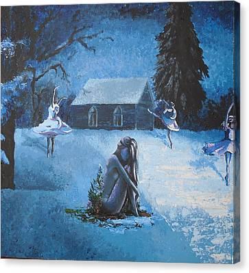 Moonlit Dream Canvas Print by Julia Ranson