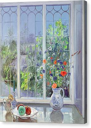 Moonlit Flowers Canvas Print by Timothy Easton