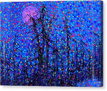 Moonlit Forest Canvas Print