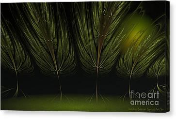 Moonlit Forest Canvas Print by Sandra Bauser Digital Art