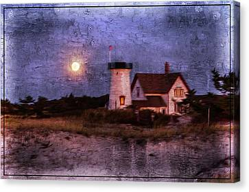 Moonlit Harbor Canvas Print by Patrice Zinck