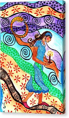 Moonlit Meditation Canvas Print by Lisa Cioppettini