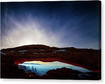 Moonlit Mesa Canvas Print by Peter Irwindale
