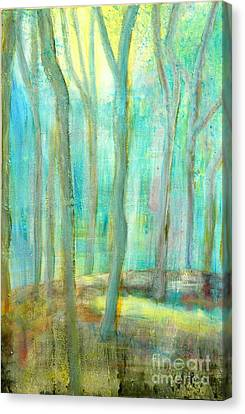 Silver Moonlight Canvas Print - Moonlit Rubber Trees by Jane Gatward