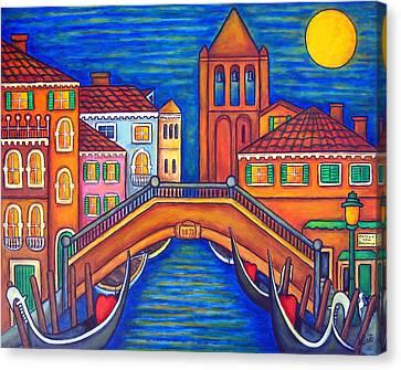 Moonlit San Barnaba Canvas Print by Lisa  Lorenz