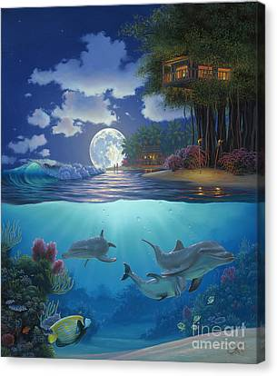 Moonlit Sanctuary Canvas Print by Al Hogue
