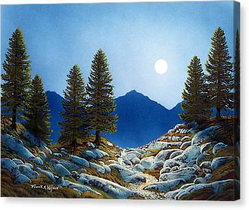 Moonlit Trail Canvas Print by Frank Wilson