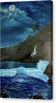 Moonlit Wave Canvas Print