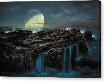 Moonrise 4 Billion Bce Canvas Print by Don Dixon