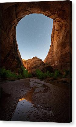 Canvas Print featuring the photograph Moonrise At Coyote Gulch by Dustin LeFevre