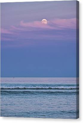 Canvas Print - Moonrise - Ogunquit Beach - Maine by Steven Ralser