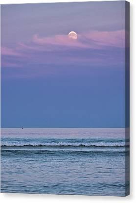 Canvas Print - Moonrise - Ogunquit Beach - Maine by Steven Ralser