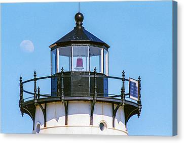 Moonrise Over Edgartown Lighthouse Canvas Print by Brian MacLean