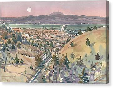 Moonrise Over San Mateo Canvas Print by Donald Maier