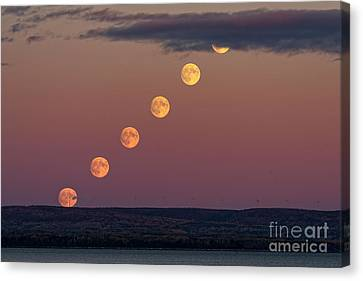Moonrise Sequence Canvas Print by Colin Woods