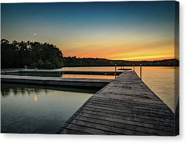 Moonrise, Sunset Canvas Print
