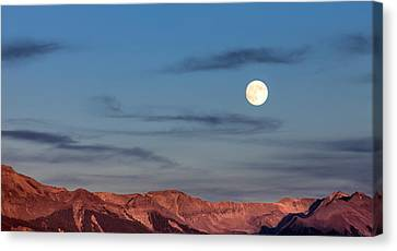 Moonrise With Afterglow Canvas Print