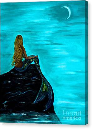 Moons Glow Canvas Print by Leslie Allen