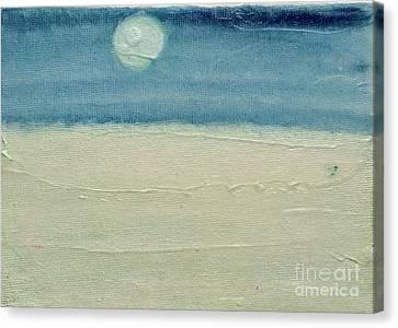 Moonshadow Pearl Canvas Print by Kim Nelson