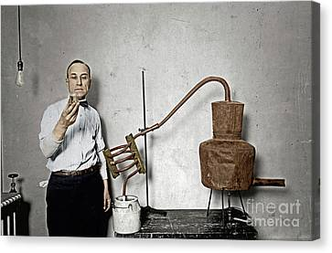 Canvas Print featuring the photograph Moonshine Distillery by Granger