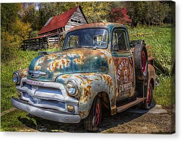 Moonshine Truck Canvas Print by Debra and Dave Vanderlaan
