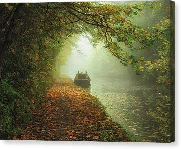 Moored In The Mist Canvas Print