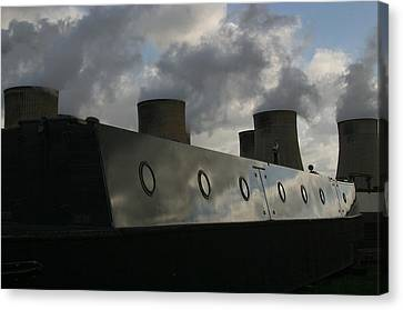 Canvas Print featuring the photograph Moored Up by Jez C Self