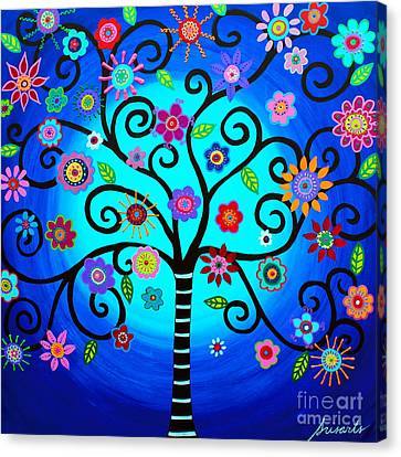 Canvas Print featuring the painting Moore's Tree Of Life by Pristine Cartera Turkus