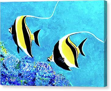 Moorish Idol Fish  #50 Canvas Print by Donald k Hall